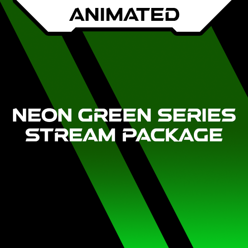 Neon Green Series Stream Package Animated
