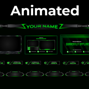 Neon Green Series Stream Package (Animated)