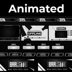 Black & White Series Stream Package (Animated)