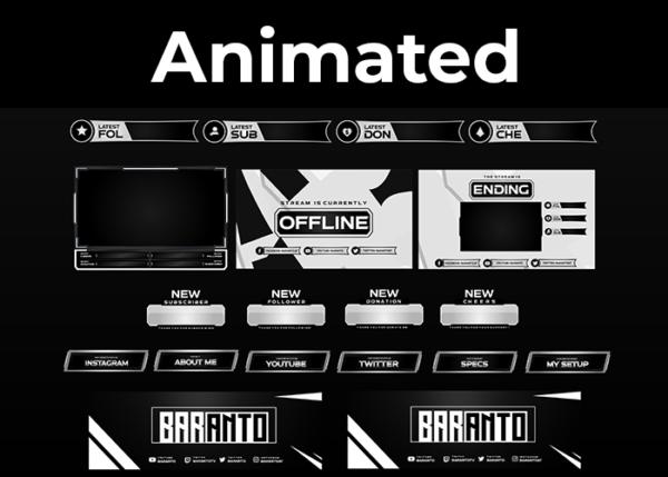 Baranto - Black & White Stream Package