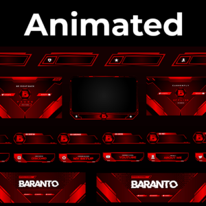 Red City Series Stream Package (Animated)