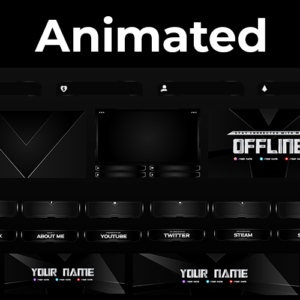 Black Duty Series Stream Package (Animated)