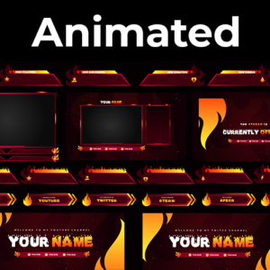 Fire Cloud Series Stream Package (Animated)